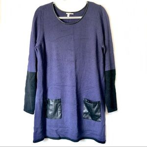 Halogen Blue Long Sleeve Sweater Tunic: Size XL
